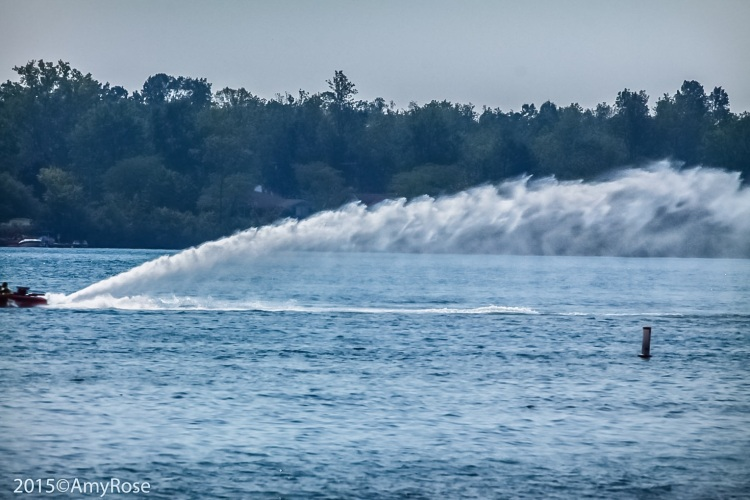 Water Plume from speedboat