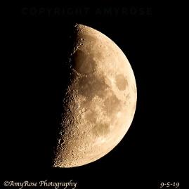 Camera Calibration to make the Moon's markings very distinct.